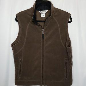 Columbia Women's Brown Fleece Vest Size XL Zip